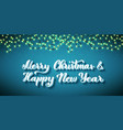 merry christmas and happy new year template vector image vector image