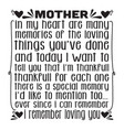 mother day quote good for print mother in my vector image vector image