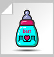 mothers day icons 5 vector image vector image