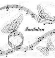 Musical design elements vector image