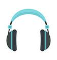 rock headphones icon flat style vector image vector image