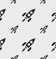 Rocket icon sign Seamless pattern with geometric vector image