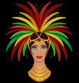 samba girl vector image