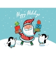 Santa Claus Christmas card vector image