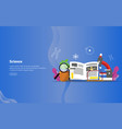 science concept educational and scientific banner vector image