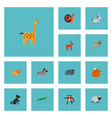 set of animal icons flat style symbols with dog vector image vector image