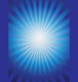 shining blue sun ray background vector image