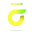 Sigma letter logo eco concept vector image