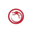snake simple logo design element vector image vector image