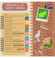 South Africa infographics statistical data sights vector image vector image