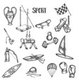 sports vintage hand drawn vector image vector image