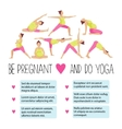 Template of Banner for advertising pregnant yoga vector image vector image