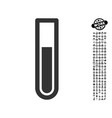 test tube icon with people bonus vector image vector image