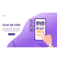 the concept scanning a qr code with your phone vector image