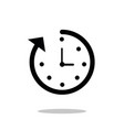 time icon fast time icon deadline icon vector image vector image