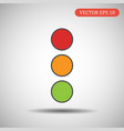 traffic light icon eps 10 vector image