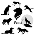 wolfSet vector image vector image