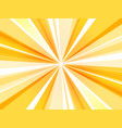 yellow abstract rays wallpaper vector image vector image