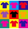 T-shirt sign Pop-art style icons set vector image