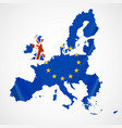 map of europe with european union members and vector image
