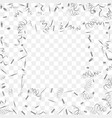 abstract background with falling silver confetti vector image