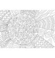 abstract drawing of sun for coloring book vector image vector image