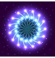 abstract violet star with shining light rays vector image vector image