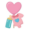 baclothes and feeding bottle vector image