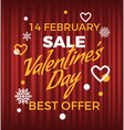 best offer valentine day best promotion vector image vector image