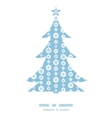 blue and white snowflakes stripes Christmas tree vector image