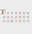 bookmarks tags ui pixel perfect well-crafted vector image