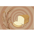 bread and corn vector image vector image