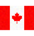 Canada flag on a triangle background Design vector image vector image