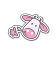 Cartoon cow with flower vector image