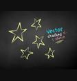 chalk drawn stars vector image vector image