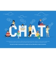 Chat concept vector image vector image
