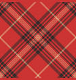 check red tartan seamless pattern vector image vector image