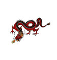 chinese dragon mythological animal or asian vector image vector image