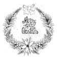 Christmas greeting card with citrusspiceBlack vector image vector image
