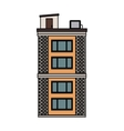 city building icon vector image vector image