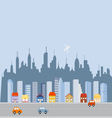 Cityscape downtown skyline vector image vector image
