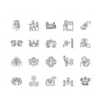 client management line icons signs set vector image vector image