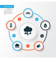 climate icons set collection of temperature vector image