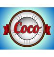 Coconut label vector image