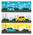 colorful cars design vector image