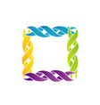 Colorful celtic frame over white vector image vector image