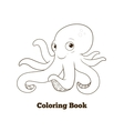 Coloring book octopus cartoon educational vector image vector image