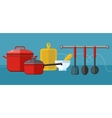 Cooking serve meals food preparation elements vector image vector image
