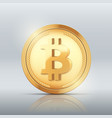 cryptocurrency bitcoin gold coin vector image vector image