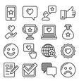 customer reviews and feedback icon set line style vector image vector image